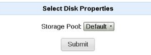 Select storage pool